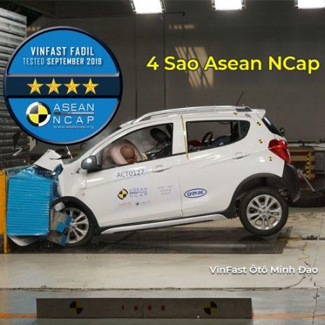 Chứng nhận an toàn ASEAN NCAP 4 sao của VinFast Fadil