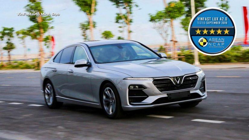 VinFast Lux A đạt chuẩn 5 sao ASEAN NCAP